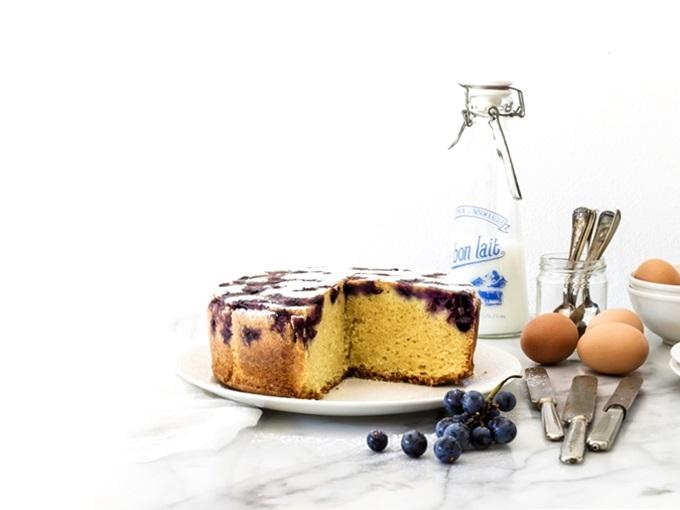 TORTA CON UVA AMERICANA - 5 - TORTA UVA FRAGOLA - STRAWBERRY GRAPE CAKE - OPSD