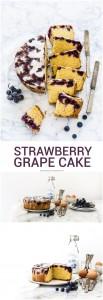 strawberry grape cake - torta all'uva americana - torta all'uva fragola