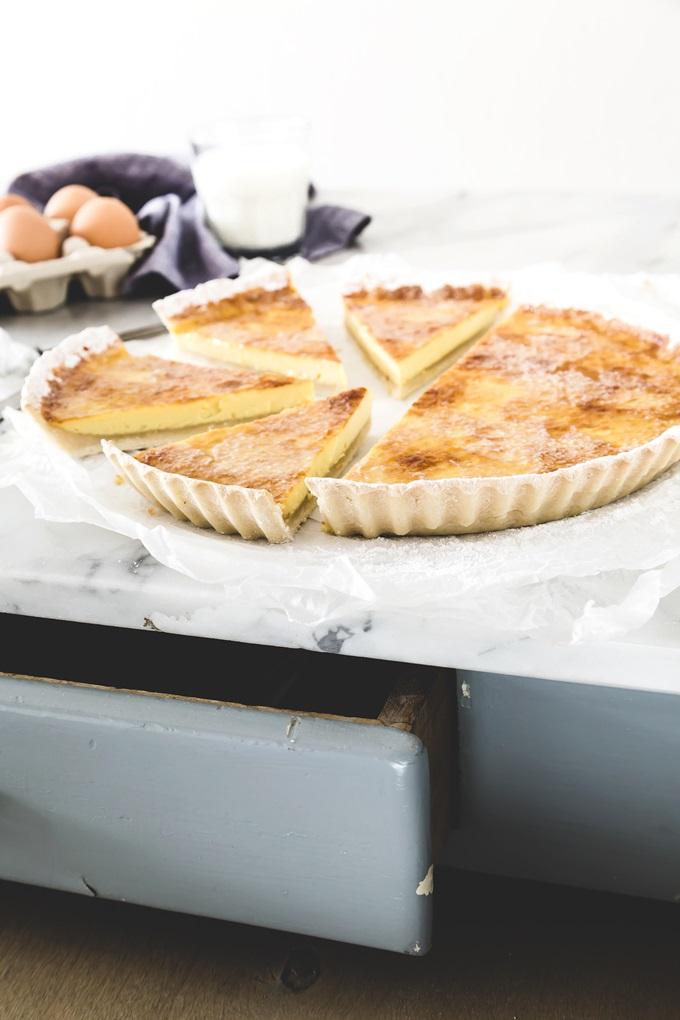 lattaiolo - lattaiolo in pasta matta - crostata al latte - lattaiolo ricetta - milk tart