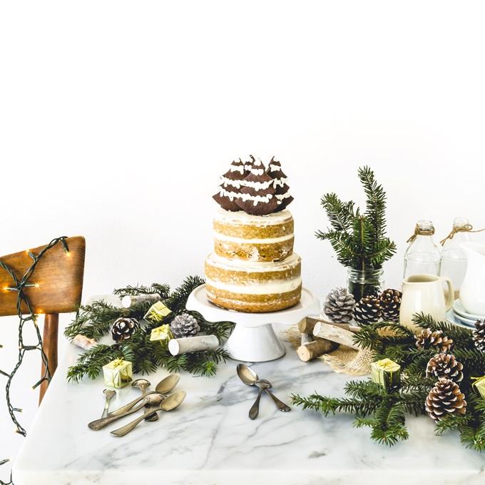 torta al caffè - coffee layer cake - christmas cake