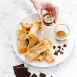 CHOCOLATE AND PEAR SPRING ROLLS - INVOLTINI PASTA FILLO CIOCCOLATO PERE - INVOLTINI CIOCCOLATO - CHOCOLATE SPRING ROLLS