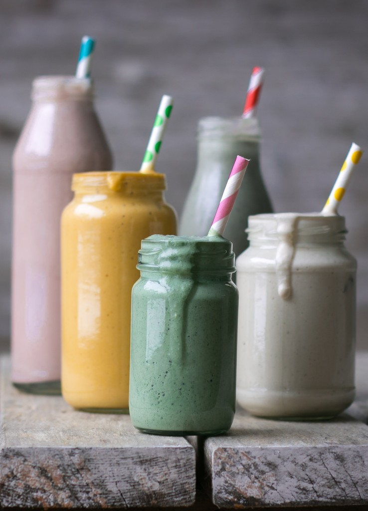 smoothies - rainbow smoothies - smoothies arcobaleno - guest post - My berry forest - OPSD blog