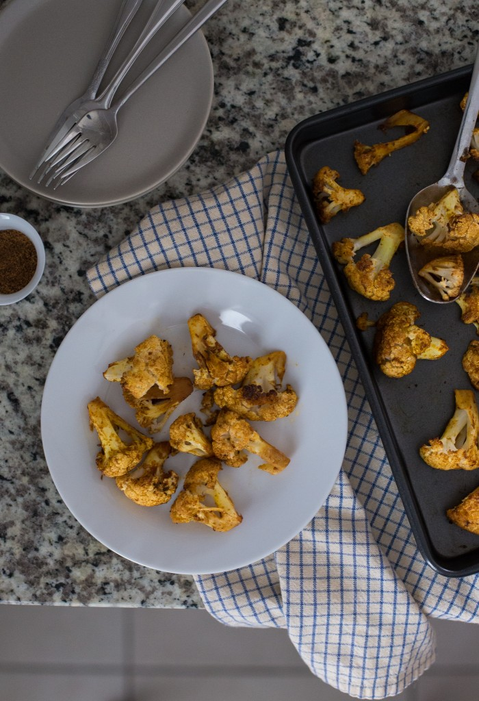 Spice roasted cauliflower florets - Cavolfiore speziato al forno - GUEST POST - Rosy Alexander - OPSD blog