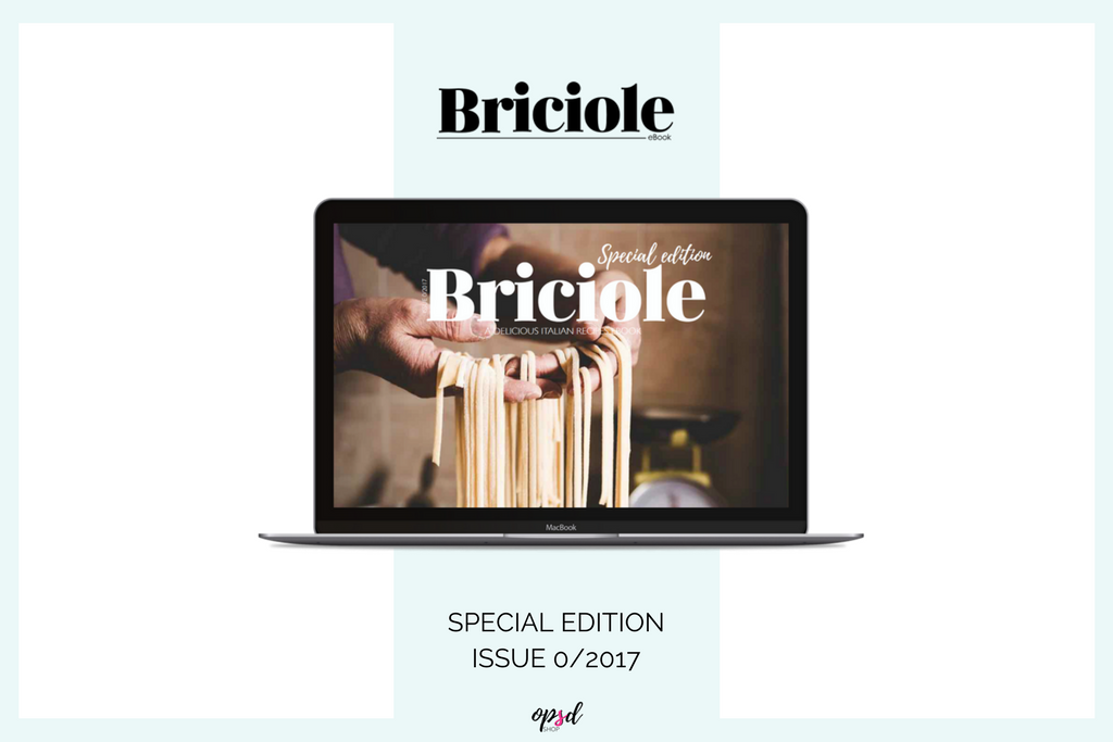One Digital Edition Plan - Briciole eBook Series -A collection of Italian recipes entirely in English. A new quarterly publication to the discovery of the Italian taste