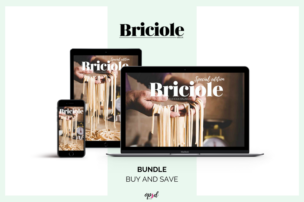 Bundle - Buy and Save - Briciole eBook Series -A collection of Italian recipes entirely in English. A new quarterly publication to the discovery of the Italian taste