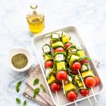 spiedini di zucchine e primosale - spiedini di zucchine - spiedini di verdure - spiedini con primosale - vegetable skewers - vegetable kabobs - vegetable kebabs - opsd blog