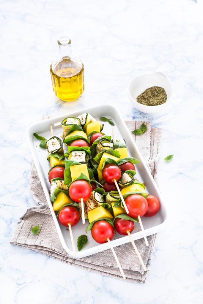 spiedini di zucchine e primosale - spiedini di zucchine - spiedini di verdure - spiedini con primosale - vegetable skewers - vegetable kabobs - vegetable kebabs - opsd blog