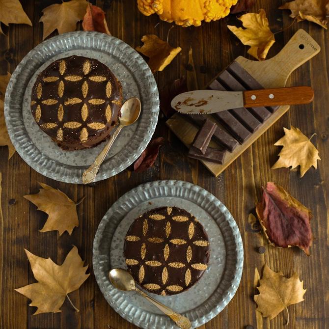 Choco pumpkin cheesecake