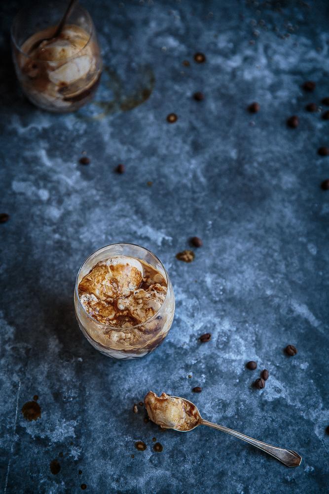 Spiced ice cream affogato - affogato speziato alla panna - affogato affogato recipe - OPSD blog - food styling - food photography - © sonia monagheddu