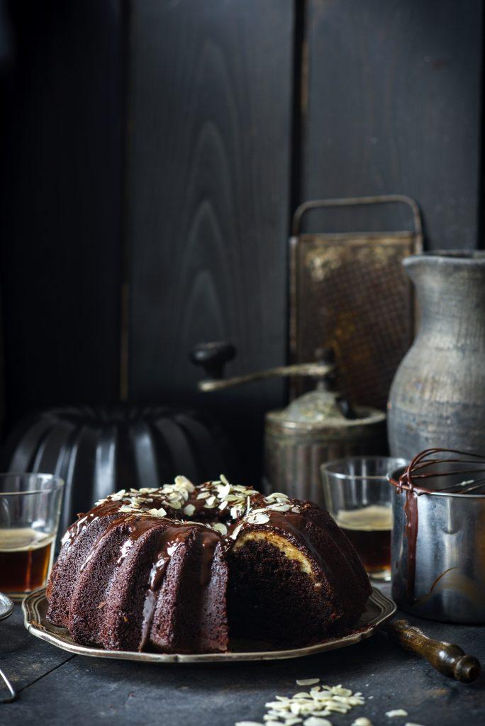 Chocolate bundt cake with cream cheese filling - Chocolate bundt cake - Chocolate bundt cake recipe - Ciambellone - Ciambellone al cioccolato - Ricetta ciambellone al cioccolato - Guest post - Irina Meliukh - OPSD blog