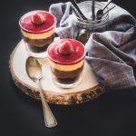 crumble al cioccolato e lamponi - dolce al cucchiaio - dessert - Ricette Bake Off Italia - Elettrodomestici Electrolux - chocolate and raspberry crumble -