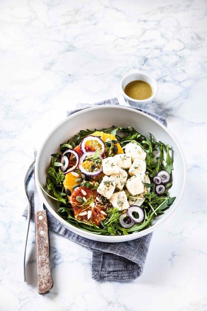 Insalata di arance, finocchi e mozzarella, Orange, fennel and mozzarella salad recipe