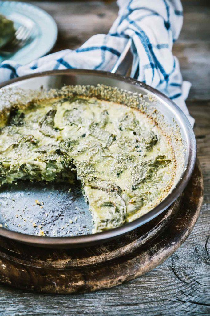 Clafoutis ai carciofi, ricetta clafoutis, ricetta vegetariana, ricetta clafoutis ai carciofi, clafoutis with artichoke recipe, how to make artichoke clafoutis