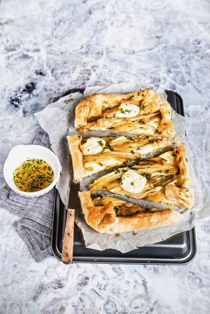 torta salata indivia - torta salata indivia e stracchino - tart indivia - endive, stracchino and honey tart - honey tart with endive and stracchino recipe - opsd blog - sonia monagheddu - food styling - food photography