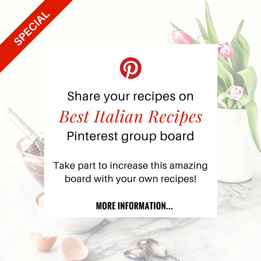 Best italian recipes - Pinterest - Pinterest group board - opsd blog - sonia monagheddu