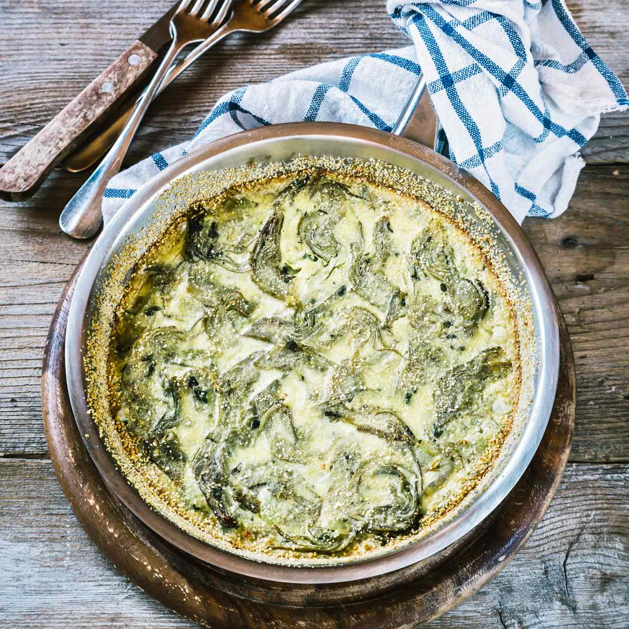 clafoutis with artichoke - clafoutis recipe - - clafoutis ai carciofi - clafoutis - ricetta clafoutis - - opsd blog - sonia monagheddu - food styling - food photography