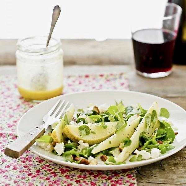 Insalata di pere e feta - Salad with pear and feta cheese