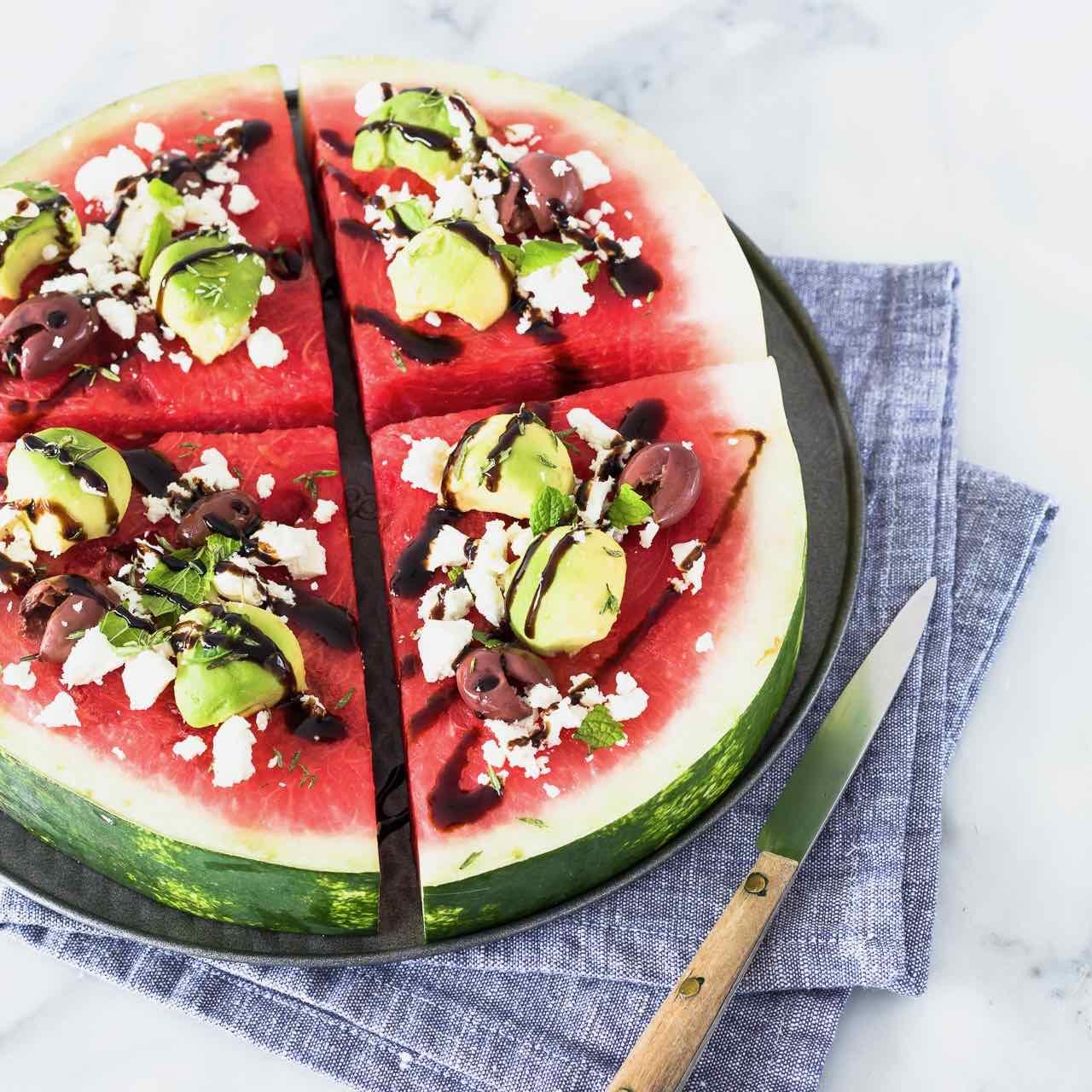 pizza di anguria - watermelon pizza - opsd blog