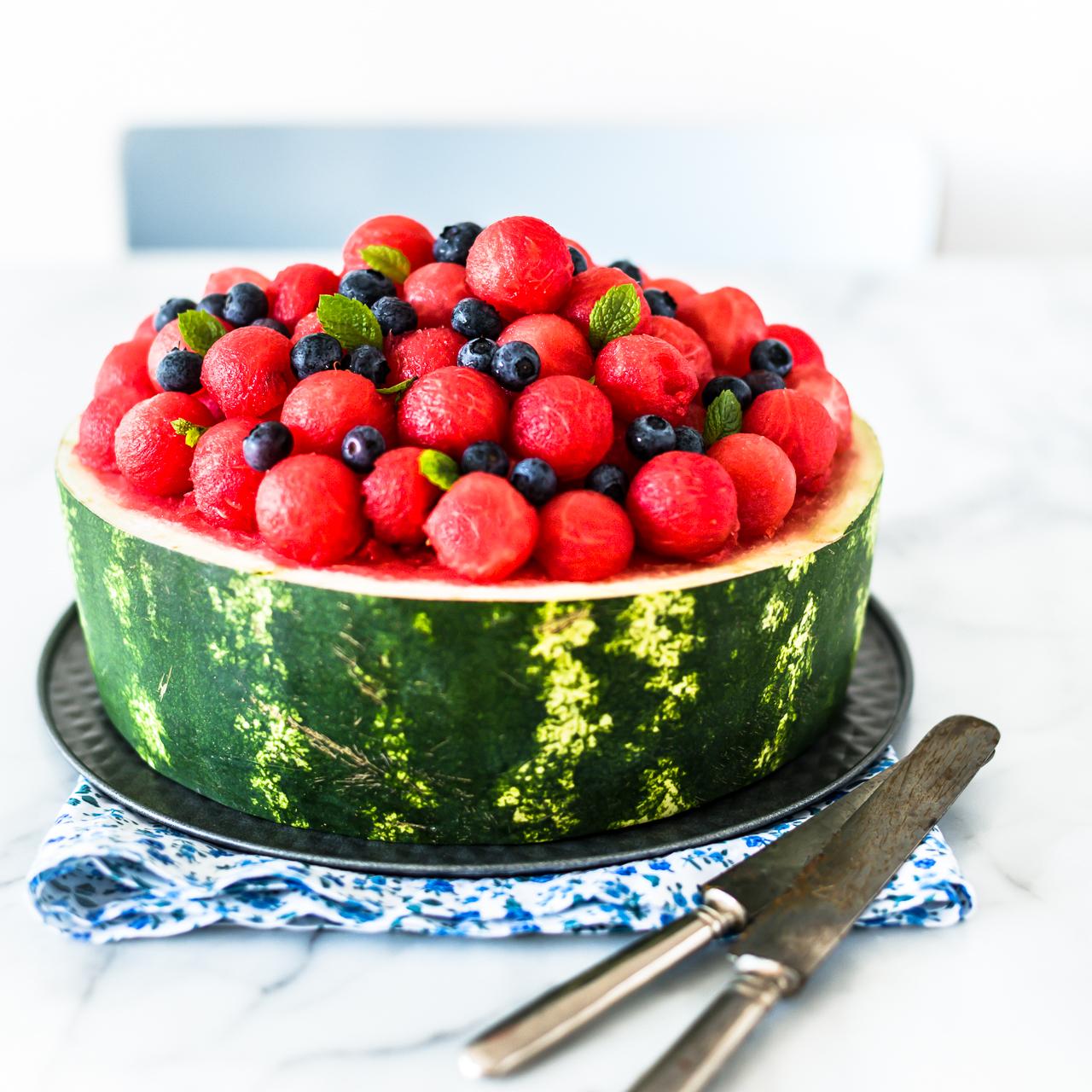 torta di anguria - watermelon cake
