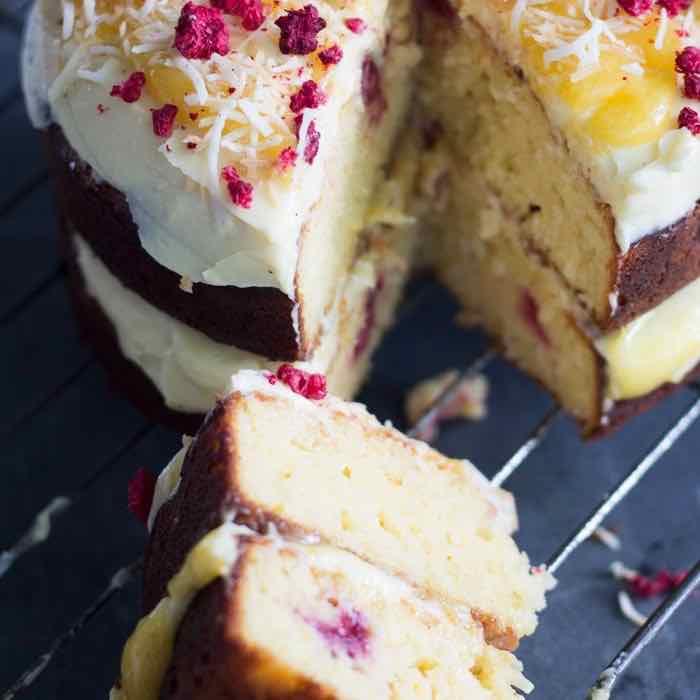 raspberry lemon cake - guest post - opsd blog