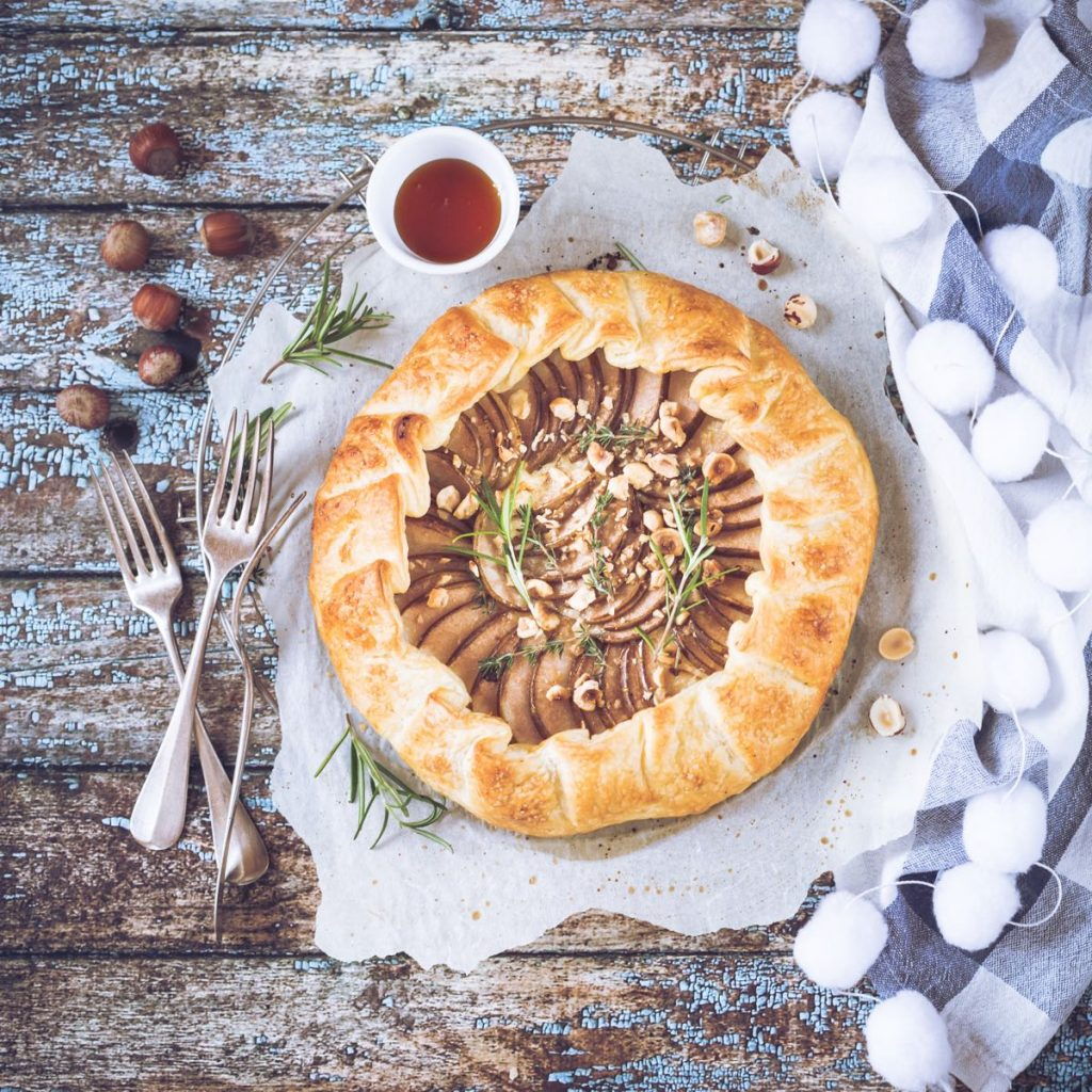 Torta salata con pere e chèvre | Savory tart with pear and goat cheese - food photography - food styling - sonia monagheddu - opsd blog