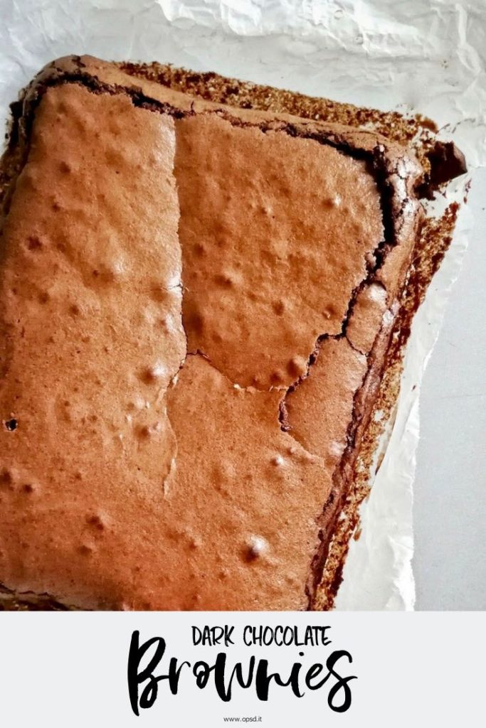 dark chocolate brownies recipe - ricetta brownies al cioccolato fondente - food photography - food styling - opsd blog