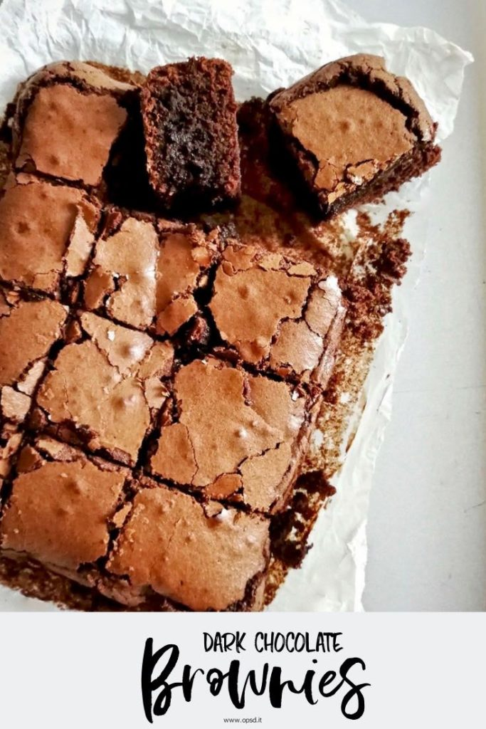 dark chocolate brownies recipe - ricetta brownies al cioccolato fondente - food photography - food styling - opsd blog