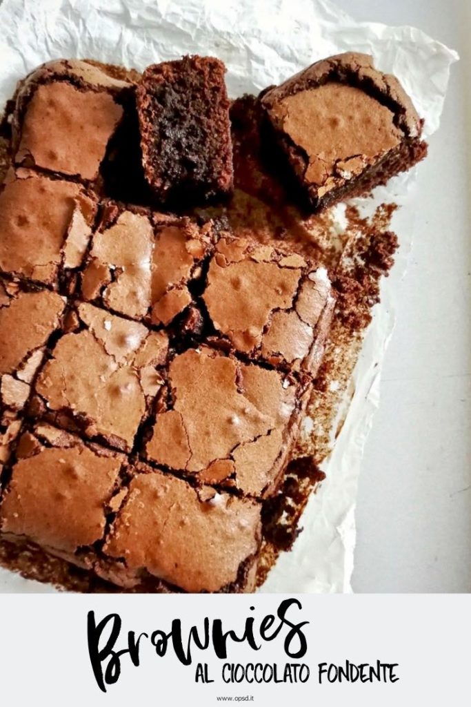 ricetta brownies al cioccolato fondente - dark chocolate brownies recipe - food photography - food styling - opsd blog