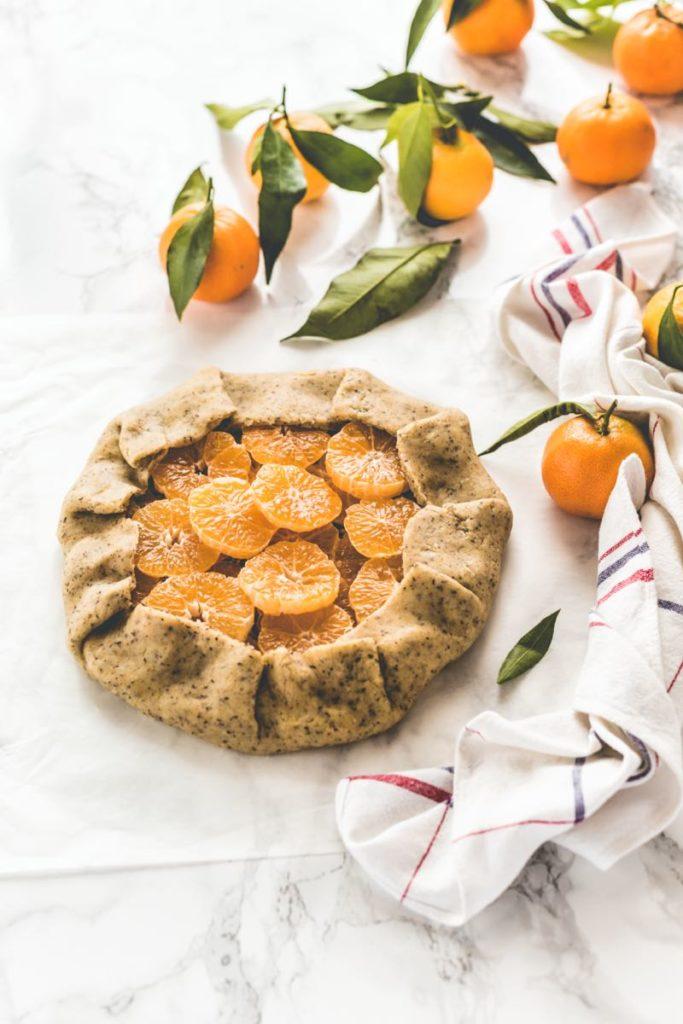 Ricetta Galette alle clementine - Galette alla frutta - Citrus galette - Fruit galette - Clementine galette recipe
