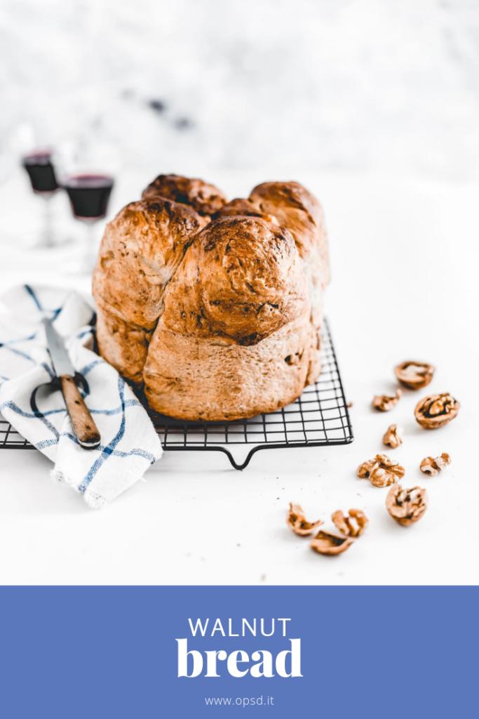 walnut bread - walnut bread recipe - pane alle noci - ricetta pane alle noci fatto in casa