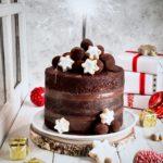 torta al cioccolato, dolci per capodanno, tartufi al cioccolato, torta alla Nutella, torta alla crema di Nocciole, chocolate naked cake, Nutella naked cake, chocolate hazelnut cream naked cake, chocolate truffle, christmas cake recipe