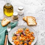 Ricetta zucca al forno con cipolle arrosto, How to make roasted pumpkin with red onions