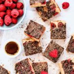 Ricetta senza lattosio, Dairy free recipe, Blondies al cioccolato, lamponi e fagioli cannellini, Cannellini bean, raspberry and chocolate blondies recipe