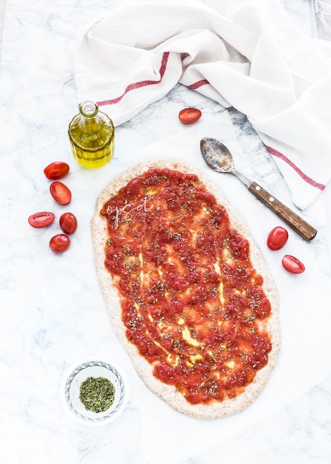 Pizza integrale con farina di farro alla marinara, Spelt Pizza dough recipe