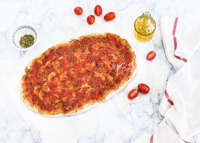 Pizza Integrale Con Farina Di Farro Alla Marinara, Pizza senza latticini, Spelt Pizza dough recipe, Marinara Pizza recipe